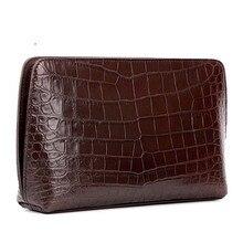 Инь Шан новый нильский крокодил крокодил кожаные сумки мужской сумки мужчины сцепления сумка крокодил мужчины сумка Браун черный