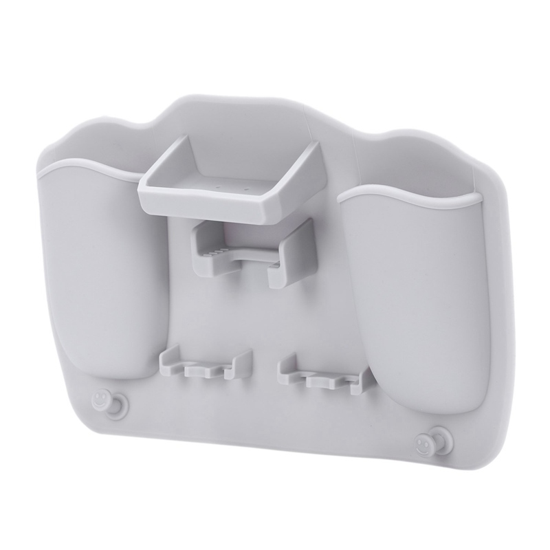 23.3 X 15.8Cm Silicone Bathroom Organizer Toothbrush Holder Silicone Toothpaste Holder For Bathroom Mirror Shower Storage Box