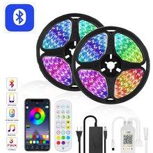 Goodland – bande lumineuse RGB, Bluetooth, 12V, 5050 diodes colorées, rétro-éclairage pour salle de télévision