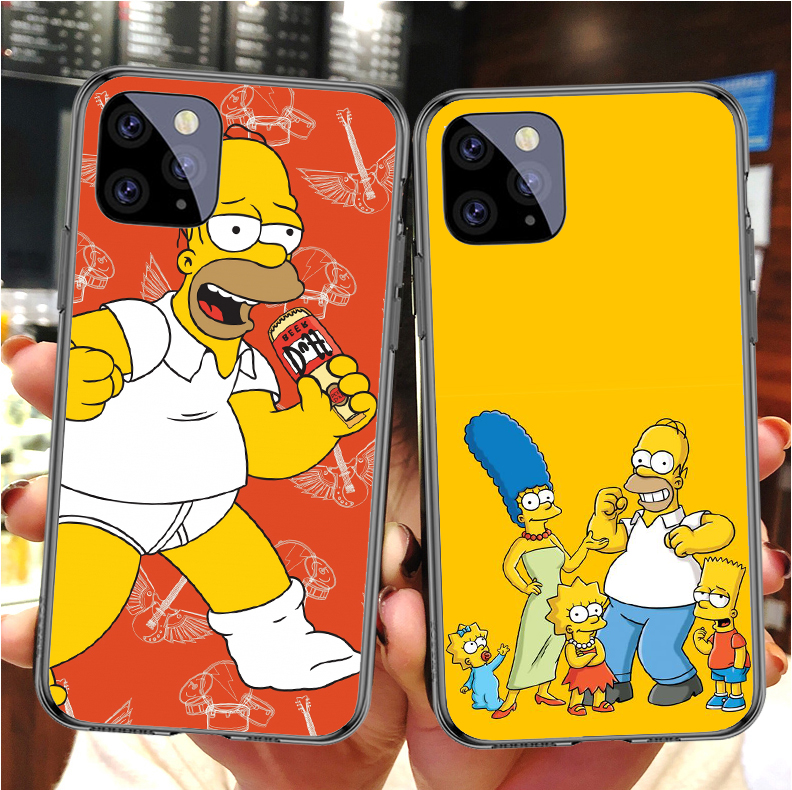 <font><b>Case</b></font> <font><b>For</b></font> <font><b>iPhone</b></font> 11 Pro MAX Cute Cartoon Simpsons <font><b>for</b></font> <font><b>iPhone</b></font> SE 5 5S 6 6S 7 8Plus MAX XR XS X10 Silicone Phone Cover Copue image