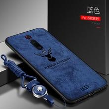 Для OPPO Realme X2 XT чехол Роскошный мягкий силикон + жесткая ткань олень тонкий защитный чехол на заднюю панель для realme X Q 3 5 Pro shell