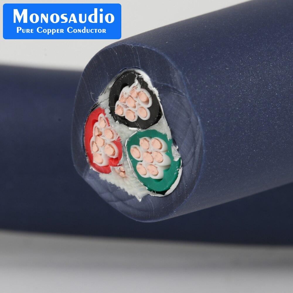 Monosaudio P902 99.998% reinem kupfer power kabel wichtigsten netzkabel AC kabel linie Powerflux Interconnect kabel Isolation Power kabel