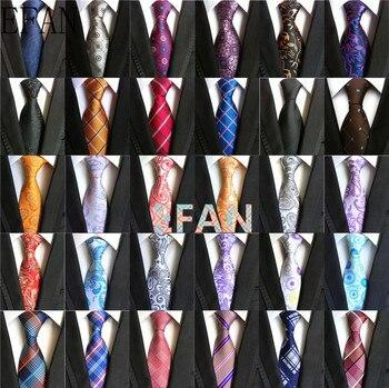 Fashion Classic Paisley Red Black Lavender Blue Jacquard Woven 100% Silk Men's Tie Necktie Floral Checked Geometric Stripe Tie floral embroidered tie detail stripe dress