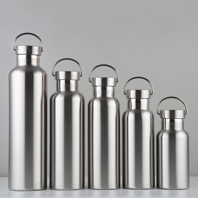 Stainless Steel Water Bottle Thermos Flask Leak-proof Single Wall Insulated Large Capacity Wide Mouth Hot Cold Water Bottle 1