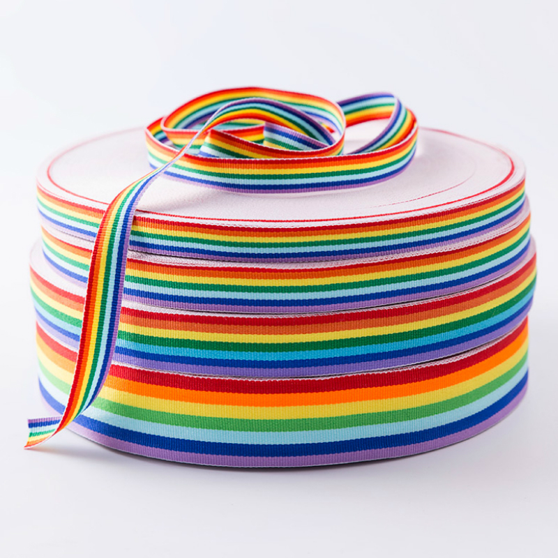 Rainbow ribbon 15 mm x 25 metre 022z
