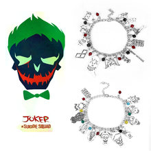 Отряд Самоубийц клоун Джокер шармы браслеты для женщин наручники
