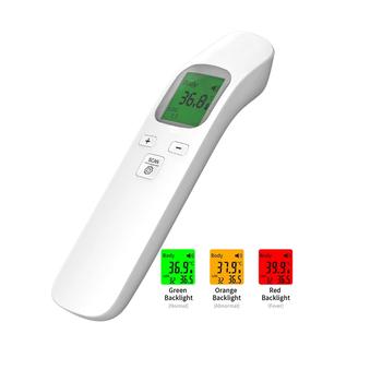 Termometr na podczerwień ludzkie ciało czoło bezdotykowe temperatury cyfrowe termometry na podczerwień wysoka gorączka termometr na czoło tanie i dobre opinie Alextrasza NONE