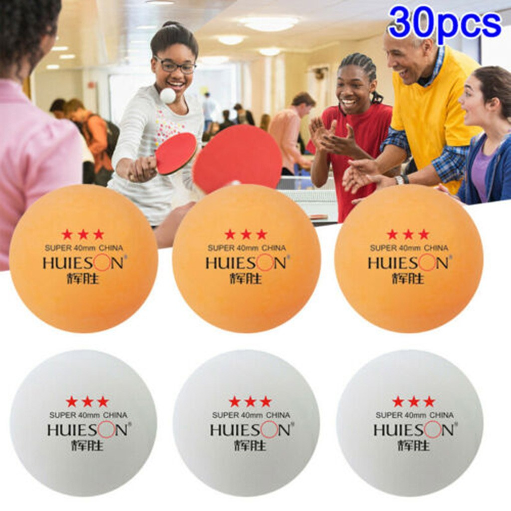Huieson 20/10/30pcs English New Material Table Tennis Balls 3 Star 40mm+ABS Plastic Ping Pong Balls Table Tennis Training Balls