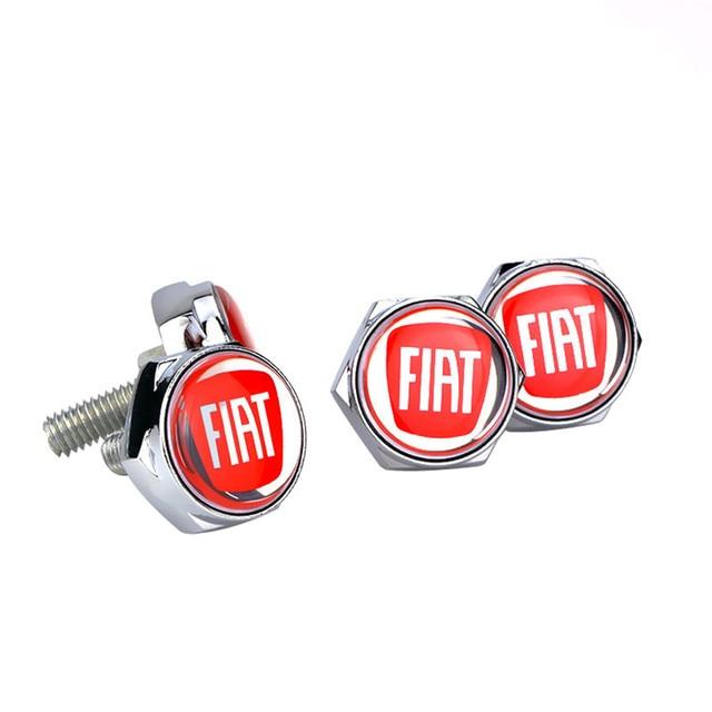 Auto Exterior License Plate Nuts Screw for Fiat 500 500l 500x 500c Panda Stilo Tipo Uno Punto Bravo 124 Car Safety Accessories 2