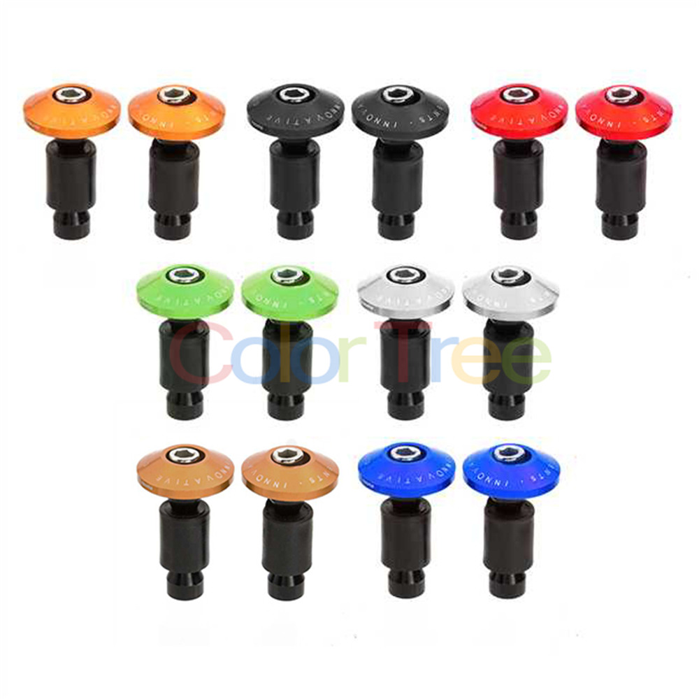 Universal Motorbike Handlebar End Plug Slider Motorcycle Counterweight Handlebar Ends 7/8'' Handle Bar Cap Cover