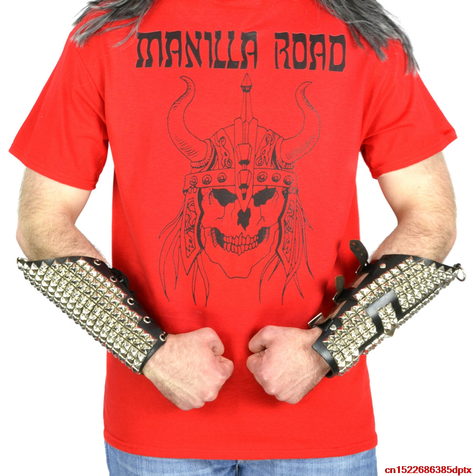Manilla Road Viking Logo Red T-Shirt