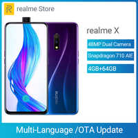 """realme X Moblie Phone Snapdragon 710 AIE Octa Core 6.53"""" Full Screen 48MP Dual Camera Cellphone 20W VOOC Fast Charger Smartphone"""