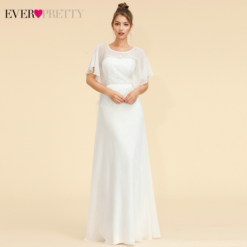 Elegant Lace Evening Dresses Ever Pretty EP08775 A-Line O-Neck Beaded Bat Wing Sleeve Cheap Chffion Party Gowns Abendkleider