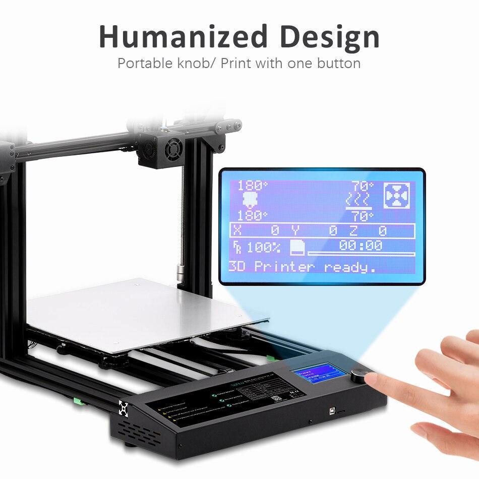 SUNLU FDM 3D Drucker S8 Große Größe rahmen 3d Filament Extruder Lebenslauf Stromausfall Druck DIY KIT Brutstätte Hohe Präzision