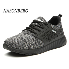 NASONBERG Winter Safety Steel Toe Puncture Proof Men Shoes Outdoor Breathable Construction Boots