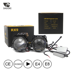 Nuevo envío gratuito Shuoke Mini Bi-Lentes de proyector LED luz 12V 12V 6000K Retrofit duros Bi LED proyector 2 uds
