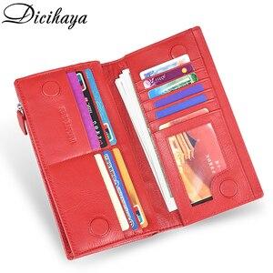 Image 5 - DICIHAYA marki prawdziwej skóry długi portfel damski Alligatos kieszeń na suwak torebka sprzęgła pieniądze etui na telefon, karty uchwyt damskie portfele