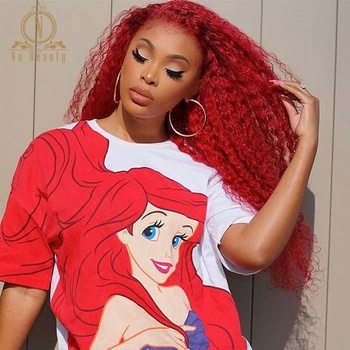 13x6 Red Color Lace Front Human Hair Wig Remy Brazilian Curly Hair Ombre Lace Wig For Black Women Pre Plucked Nabeauty 150