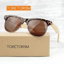 Toketorism men's fashion semi rimless sunglasses