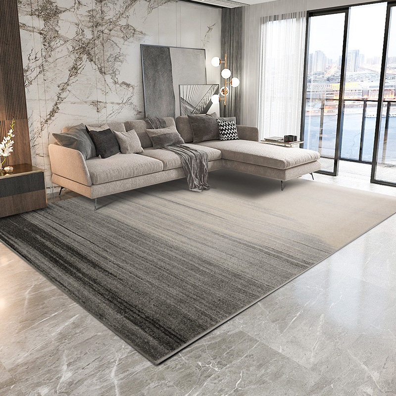 Modern Gray Carpets For Living Room Nordic Thick Bedroom Rug Sofa