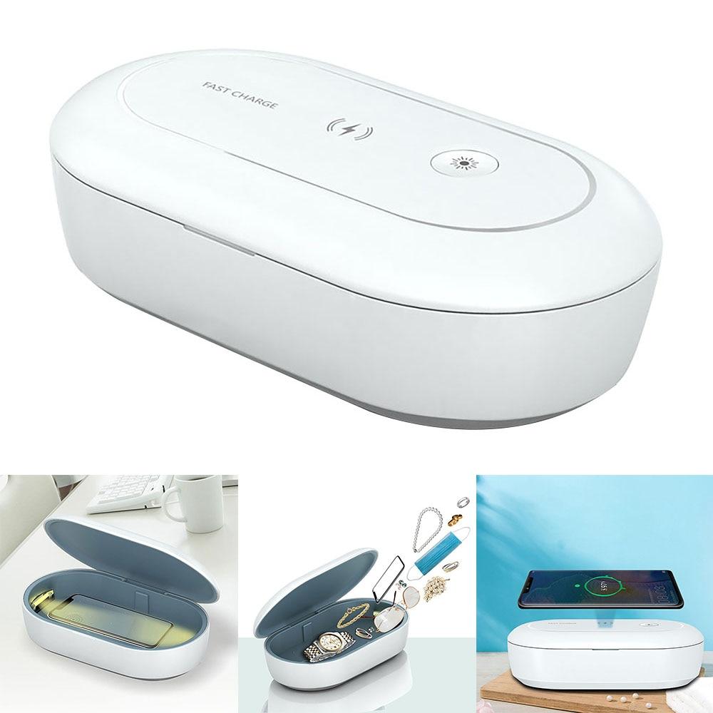 5V UV lumière téléphone stérilisateur boîte bijoux téléphones masques clé montre nettoyant désinfectant personnel désinfection armoire Désinfecteurr
