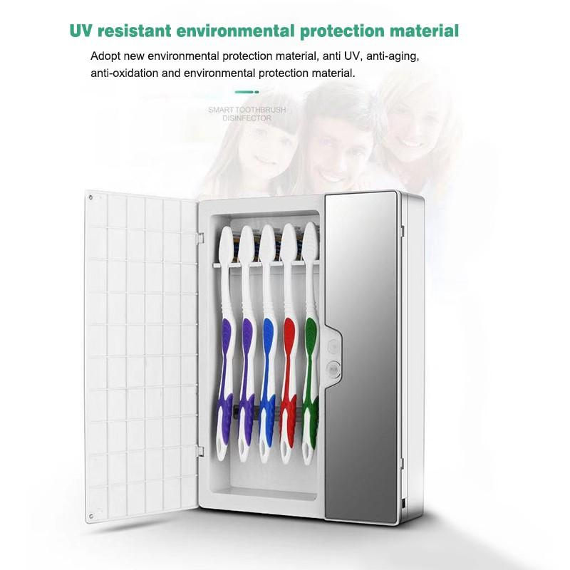 Image 4 - Solar Energy UV Toothbrush Disinfectant Cleaning Agent Storage Bathroom No Need To Charge Toothpaste Dispenser Holder SanitizerToothbrush & Toothpaste Holders   -