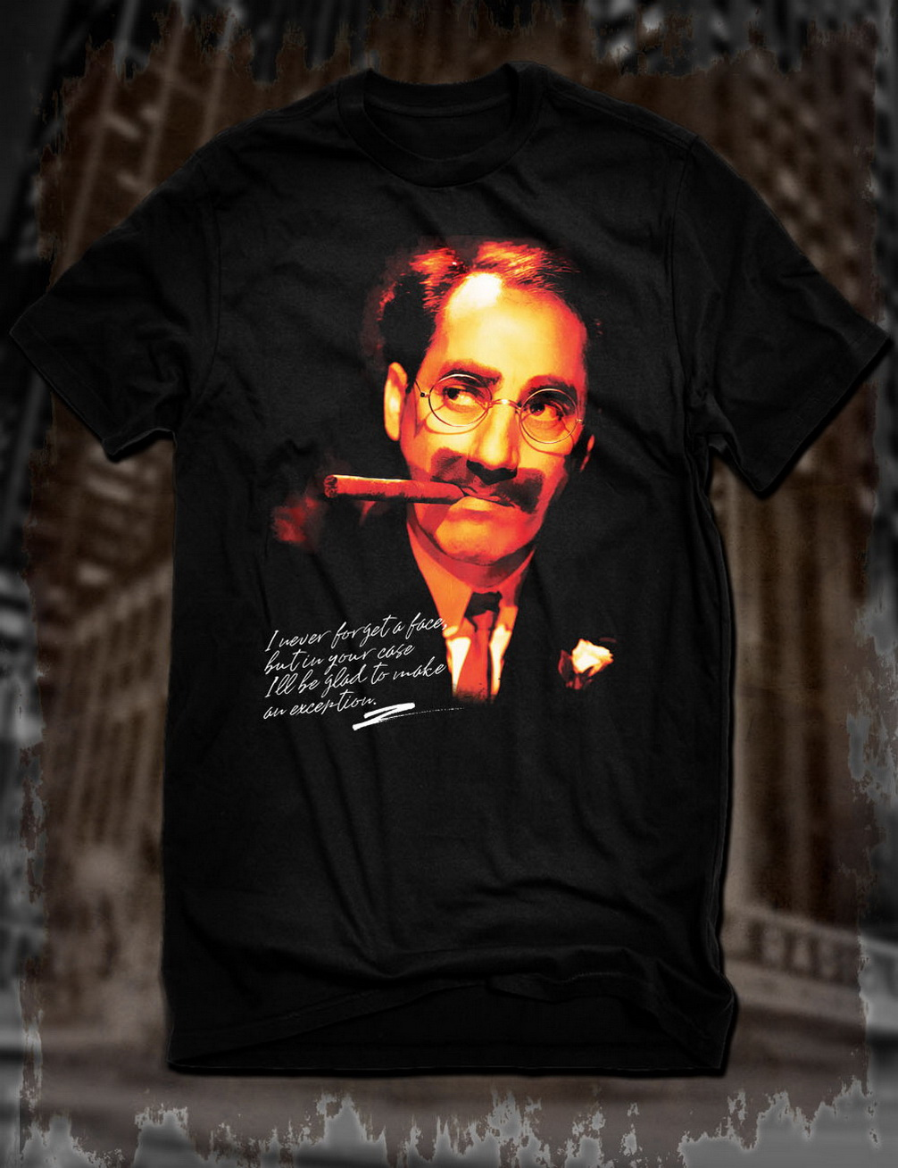 New Black Groucho Marx Funny Quote Tops Tee T Shirt Harpo Comedy Film Marx Brothers T-Shirt Breathable Tops image