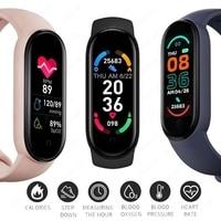M6 Smart Bracelet Watches Men Women Smart Watch Heart Rate Fitness Tracking Sports Bracelet For Apple Xiaomi Android Smartwatch 2