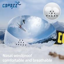COPOZZ brand professional ski goggles Anti-fog  snowboard glasses double layers uv400 windproof Cycling Sunglasses