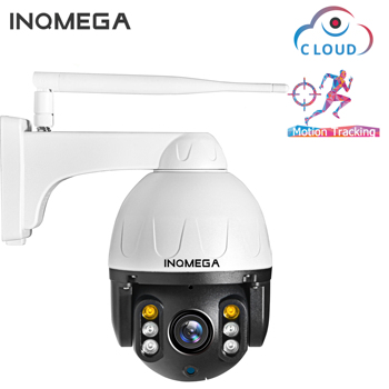 INQMEGA Cloud 1080P Outdoor PTZ IP Camera WIFI Speed Dome Auto Tracking Camera 4X Digital Zoom 2MP Onvif IR CCTV Security Camera hd 1080p outdoor wifi tracking camera cloud storage home security ptz ip camera auto speed dome 2mp camera wireles with tf card