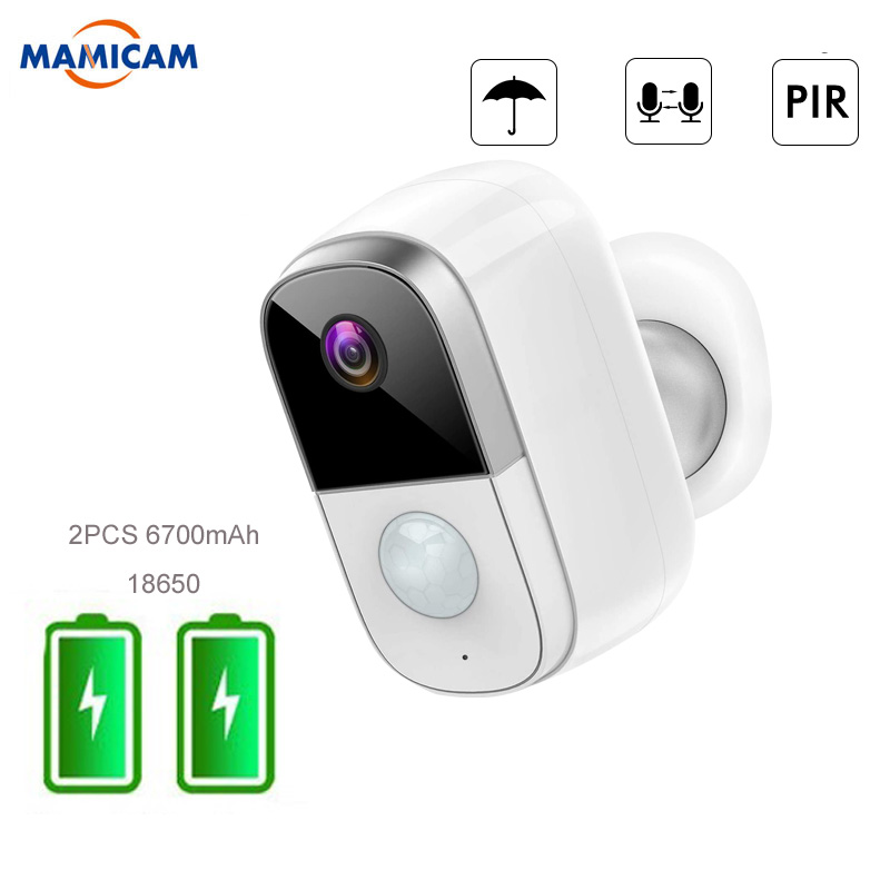 1080P Rechargeable Battery Powered WiFi Camera Wireless Security Camera Outdoor Indoor Night Vision PIR Motion Sensor 2-Way Audi