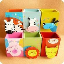 A223 Houten Pen Container Een. Cartoon Pen Container 0.07(China)