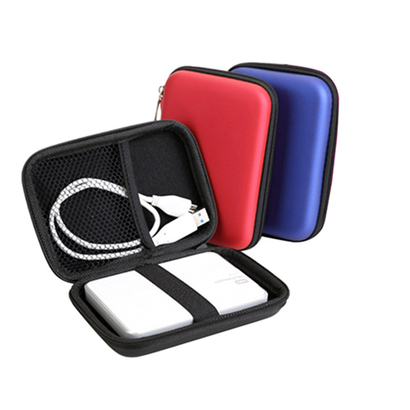 """2.5"""" HDD Bag External USB Hard Drive Disk Pouch Earphone Bag Carry Usb Cable Case Cover For PC Laptop Hard Disk Case коробка"""
