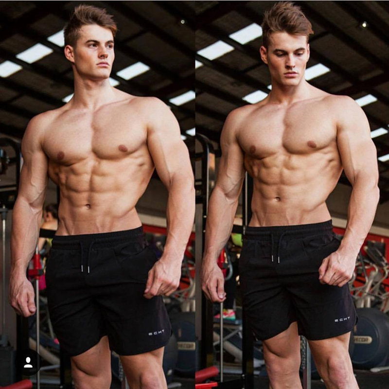 Hot DealsLoose Shorts Joggers Cool Quick-Dry Fitness Bodybuilding Men Gyms Male Beach Casual Summer