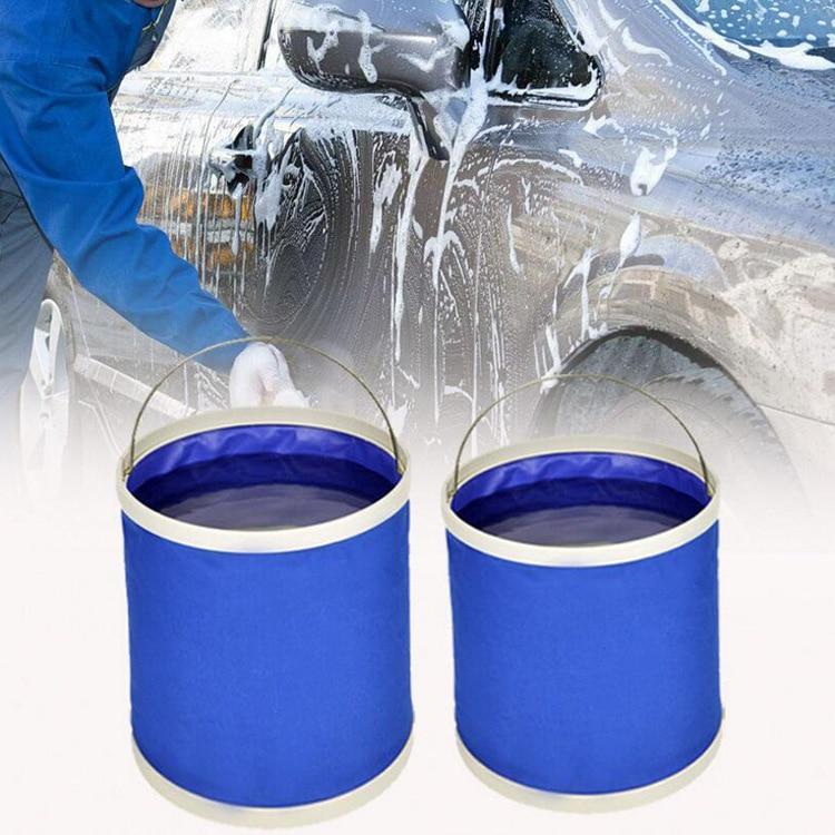 Cubo plegable a prueba de agua de 9/11L, práctico cubo de agua portátil resistente al medio ambiente, bolsa de almacenamiento de contenedores