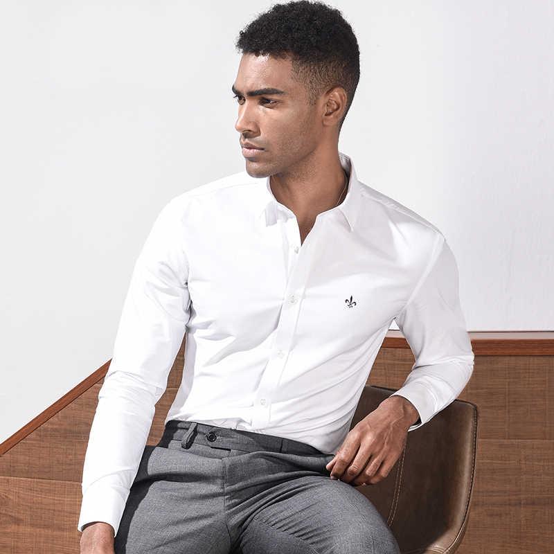 Fashion Blus Dudalina Camisa Sosial Masculina Lengan Panjang Slim Fit Kemeja Pria Floral Pakaian Putih Pria Kulit Putih Dingin