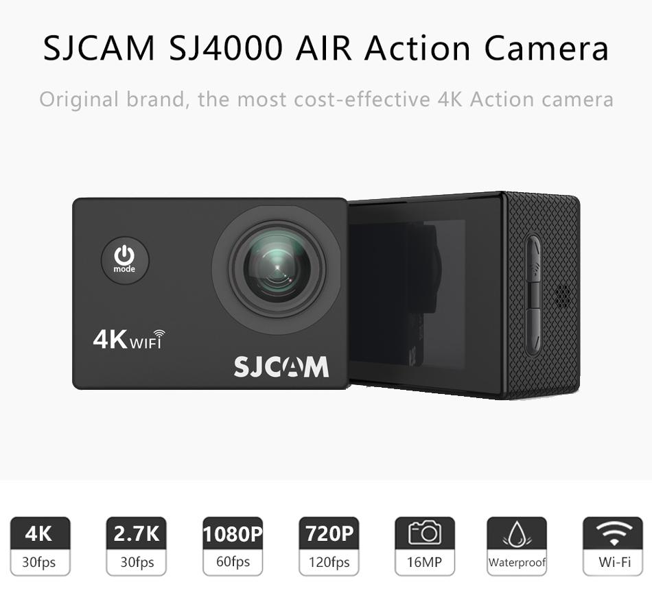 "SJCAM SJ4000 Cámara de Acción Full HD 4K 30FPS WIFI 2,0 ""Pantalla Mini casco impermeable deportes DV Cámara 3"