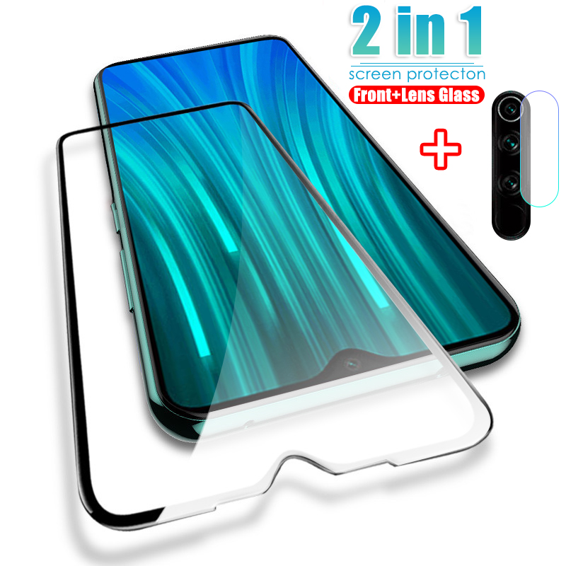2 in 1 HD Full Protective Tempered Glass Clear Lens Glass For Xiaomi Redmi Note 8 7 9 Pro Max 9S 8T Screen Protector 8A 7A Film(China)