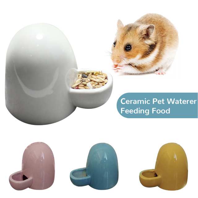 Portable Ceramic Bird Cage Water Dispenser Feeder Pet Bird Feeder Feeding Bowl Hamster Hedgehog Feeders Drinkers 1
