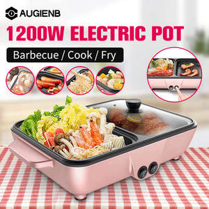 Pot-Machine Noodles-Eggs-Soup Bbq-Heating-Pan Barbecue Non-Stick Cooking Multifunction-Hotpot
