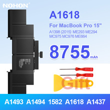 NOHON Laptop A1398 Battery A1502 for Macbook Pro 15