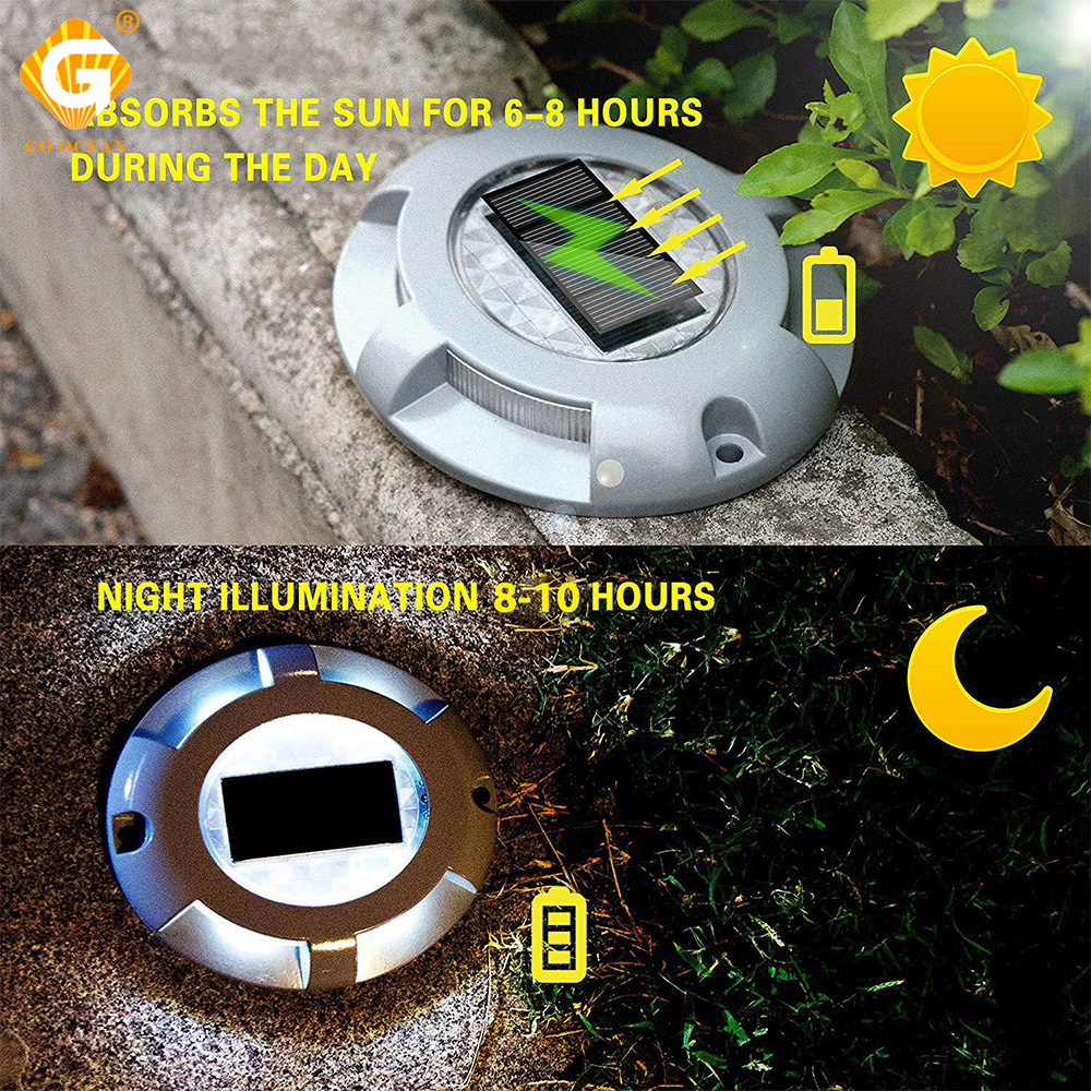 Solar Underground Light 4 8 16 LED Disk Ground Inground Lamp For Garden Outdoor Path Decor Color Changeable Lawn Yard Lighting