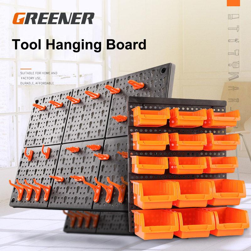 GREENER Garage Organizer Tools Cabinet Tool Hanging Board ABS Hardware Storage Rack Hole Plastic Safety Multifunctional Workshop