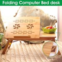 Folding Height Adjustable Small Table for Computer Desk Bed WIth DrawerNotebook Desk Table Bed Sofa Breakfast Tray Picnic Table