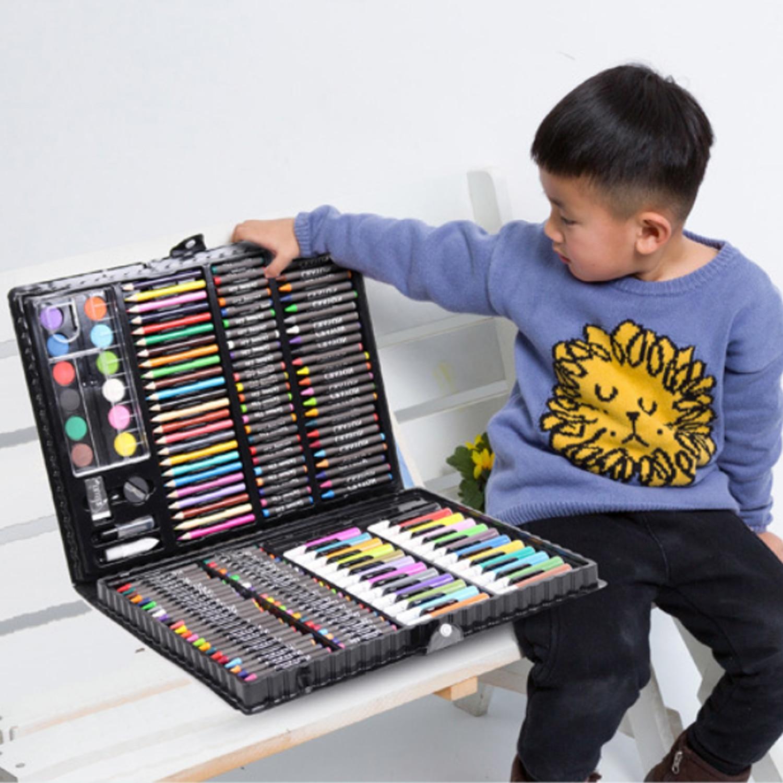 168 шт., набор художественного рисунка для детей, набор для детей, для мальчиков и девочек, для студентов, на Рождество, день рождения, праздник, подарок на Новый год|Рисовальные наборы|   | АлиЭкспресс