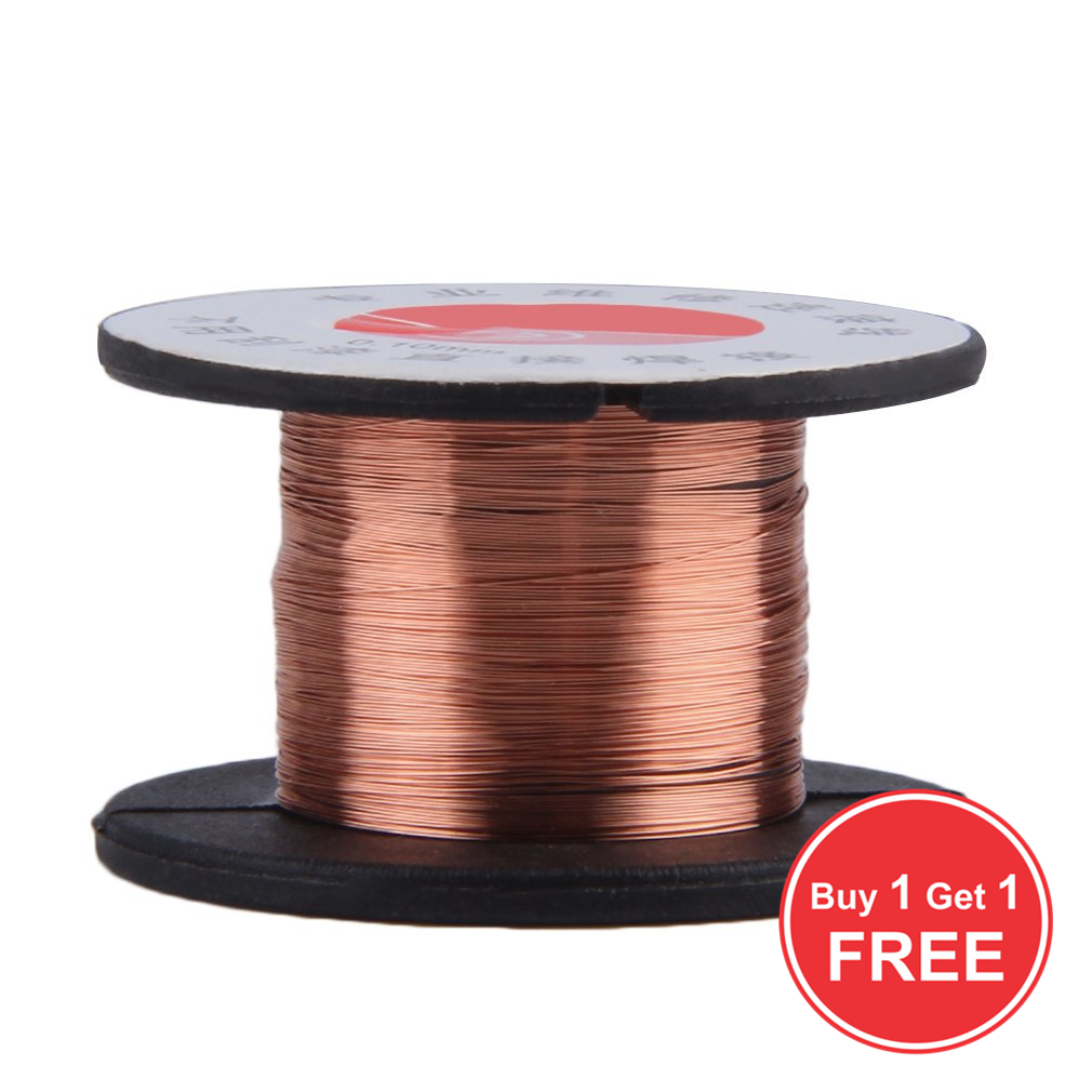 Buy 1 Get 1 For Free 0.1MM Copper Soldering Solder PPA Enamelled Repair Reel Wire Fly Line 0.1MM Copper Solder Wire Free Shippng