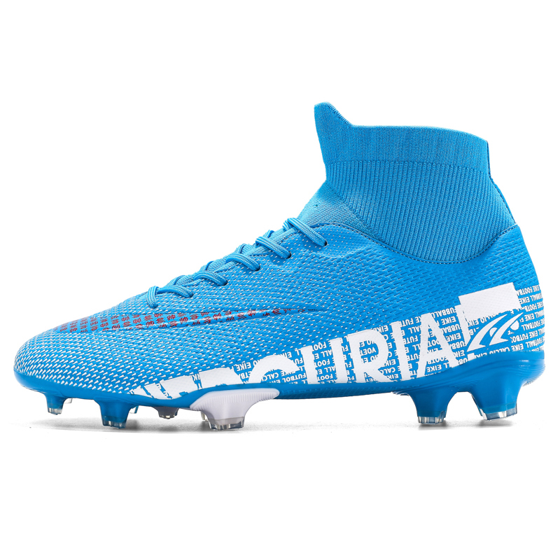 ZHENZU Kids Cleats Soccer-Shoes Football-Boots Sport-Sneakers Training Outdoor Boys High-Ankle title=