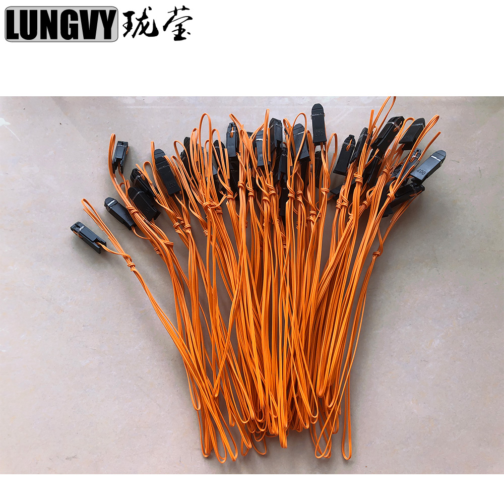 50pcs 1m Copper Wire Orange Color Talon Ignition Wire For Fireworks Firing System Firing Device