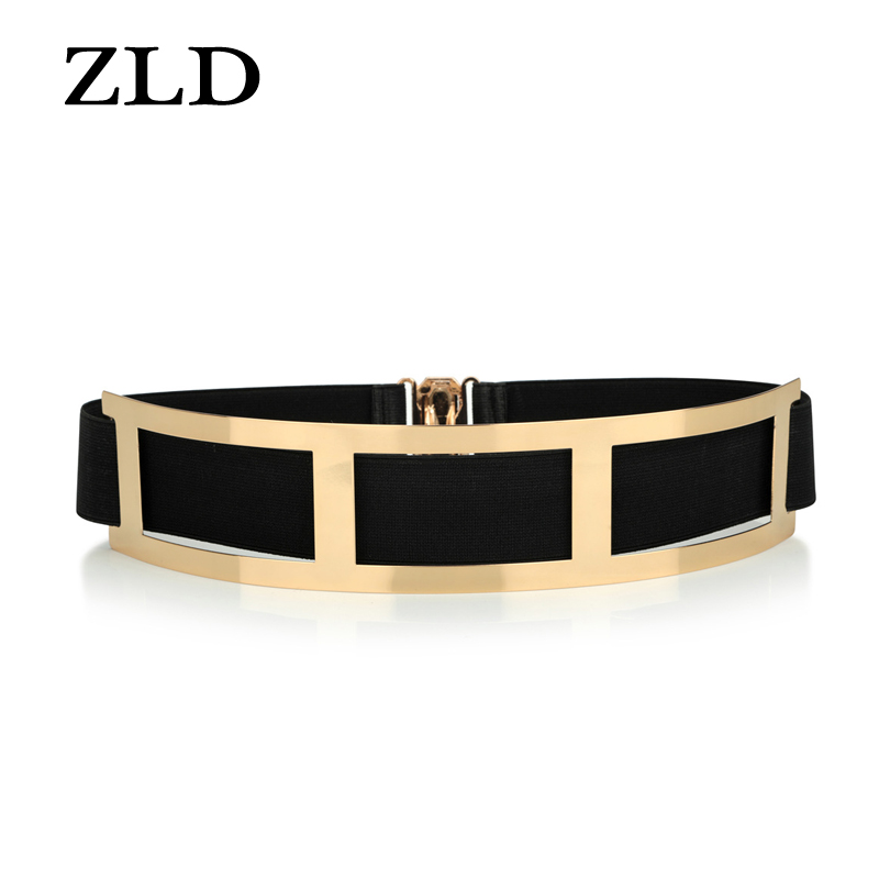ZLD Sexy Ladies Gold Belt, Ladies Elastic Mirror, Metal Belt, Wide Belt, Women's Dress Accessories  Luxury Fashion  Waist Belt