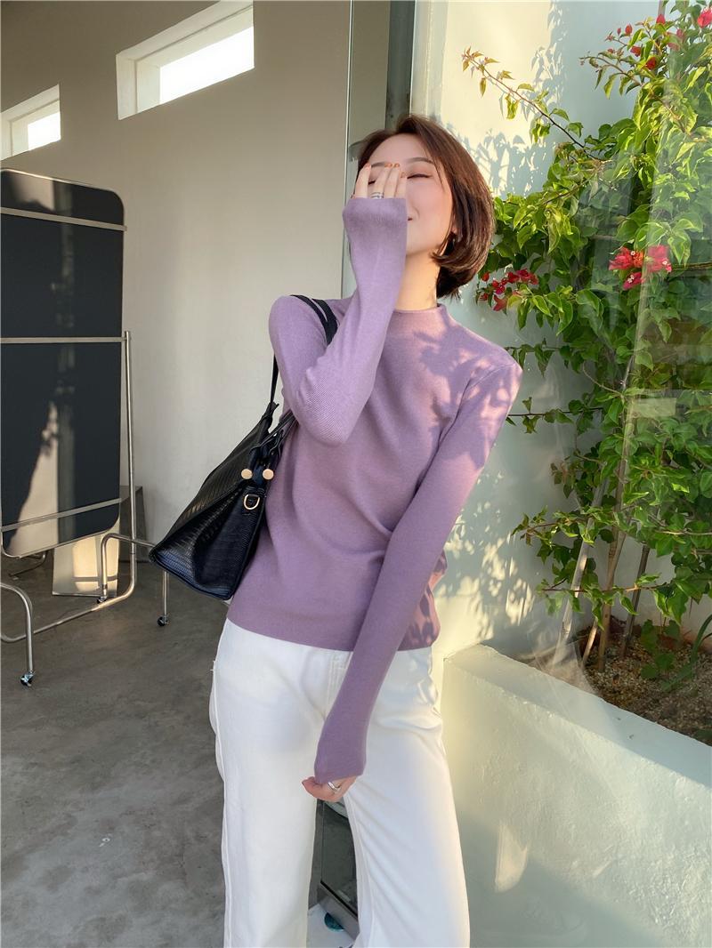 Корейский Стиль Повседневный базовый осенне зимний свитер женский